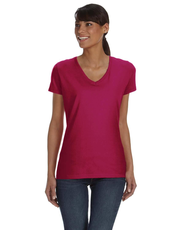 Fruit of the Loom Ladies' 8.3 oz./lin. yd. HD Cotton V-Neck T-Shirt | L39VR