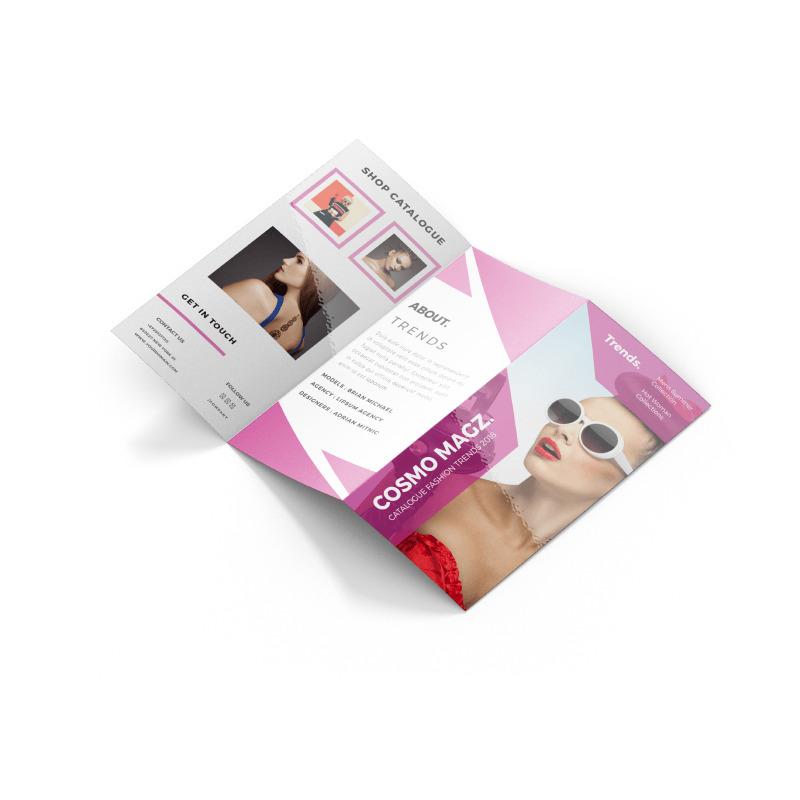 Brochures 100lb + UV (High Gloss)