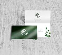 >UV (High Gloss) Folded Business Cards