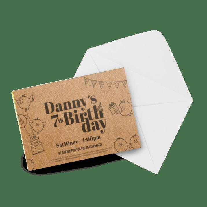 Invitations / Annonces 18pt Papier Kraft