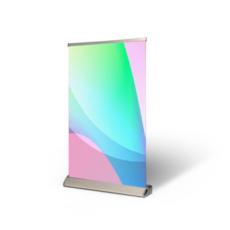 Bannière rétractable pour table Vinyle Mat 13oz
