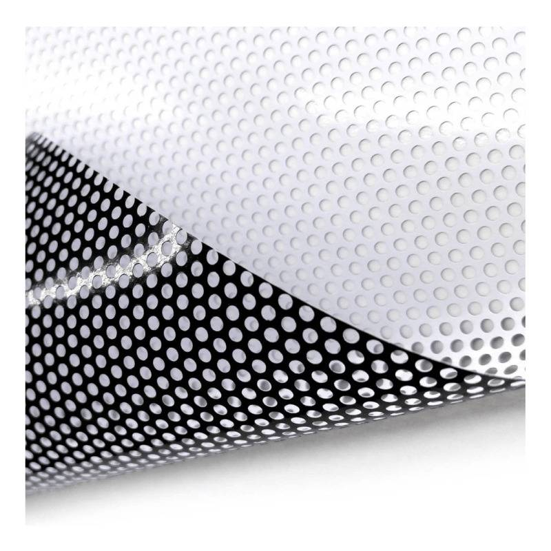 Vinyle perforé pour fenêtre  Adhésif perforé en vinyle